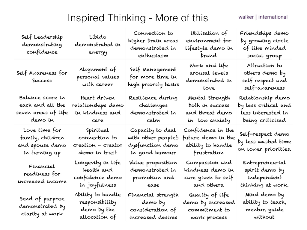Inspired thinking Chris Walker More of this